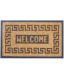 "Rubber Backing Meandros Coco Welcome Doormat, 18"" x 30"""