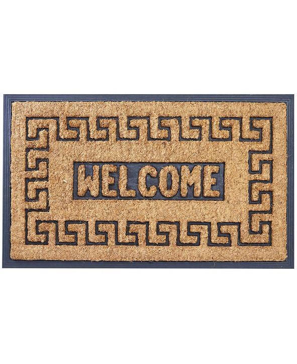 """Envelor Rubber Backing Meandros Coco Welcome Doormat, 18"""" x 30"""""""