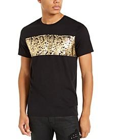Men's Gold Snakeskin Graphic T-Shirt