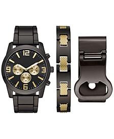 Men's Gunmetal Bracelet Watch 46mm Box Set
