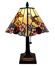 Tiffany Style Floral Mission Style Table Lamp