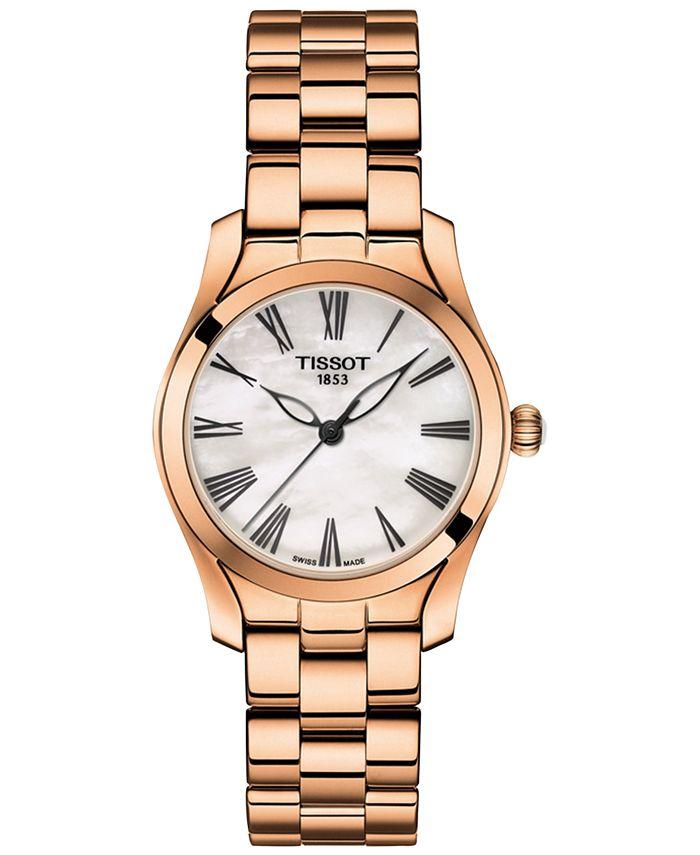 Tissot - Women's Swiss T-Wave Rose Gold 5N Stainless Steel Bracelet Watch 30mm