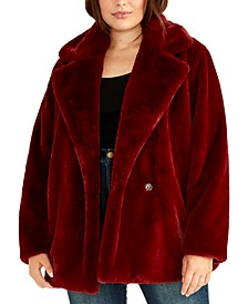 Trendy Plus Size Faux-Fur Jacket