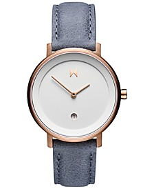 Women's Signature II Earl Gray Blue Leather Strap Watch 34mm