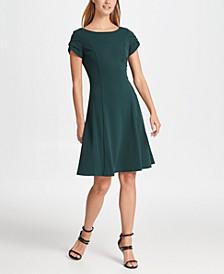 Tulip Sleeve Fit & Flare Dress