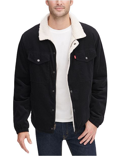 Levi's Men's Fleece-Lined Corduroy Trucker Jacket