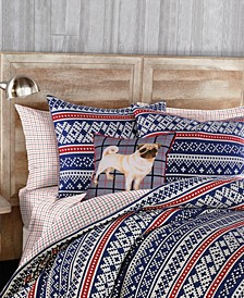 G.H. Bass 3-Piece Fair Isle Flannel Full/Queen Comforter Set