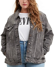Trendy Plus Size Ex-Boyfriend Trucker Denim Jacket