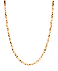 "14K Yellow Gold Diamond Cut 1.5 mm Round Box 20"" Chain"