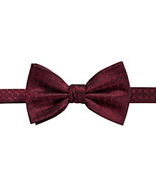 Men's Boysen Pre-Tied Geometric Silk Bow Tie, Created For Macy's