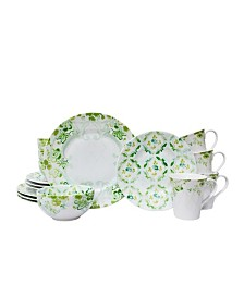 Patina Vie Swedish Sea Green 16 Piece Dinnerware Set