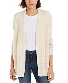 INC Waffle-Stitch Cozy Cardigan Sweater, Created For Macy's
