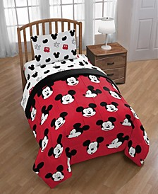 Mickey Mouse 4-Piece Twin Comforter Set