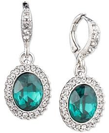 Pavé & Stone Drop Earrings