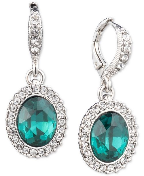 Givenchy Pavé & Stone Drop Earrings