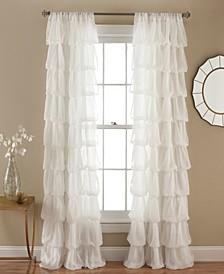 "Olivia Ruffle 50"" x 84"" Single Window Panel"