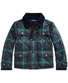 Toddler Girl's Tartan Quilted Barn Jacket