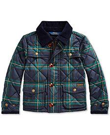 Polo Ralph Lauren Toddler Girl's Tartan Quilted Barn Jacket