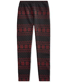 Big Girl's Fair Isle Jersey Legging