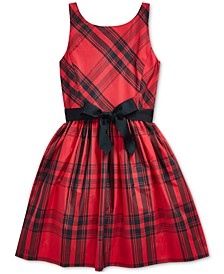 Big Girl's Plaid Taffeta Dress