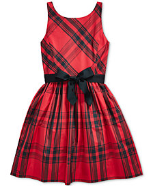 Polo Ralph Lauren Big Girl's Plaid Taffeta Dress