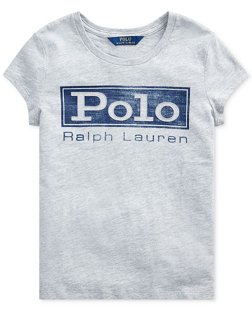 Polo Ralph Lauren Big Girl's Logo Cotton Jersey T-Shirt
