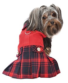 Scottish Plaid Pleated Dog Dress
