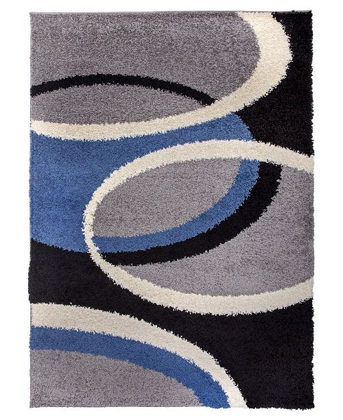 Main Street Rugs Home Knox Shag Ksh750 Blue Area Rug Collection