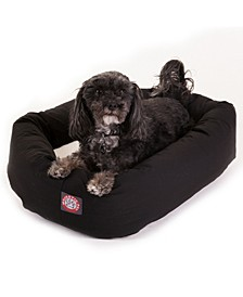 Poly Cotton Sherpa Bagel Dog Bed