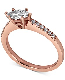 Diamond Oval Engagement Ring (5/8 ct. t.w.) in 14k Rose Gold