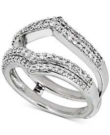 Diamond Double V Enhancer Ring (1/2 ct. t.w.) in 14k White Gold