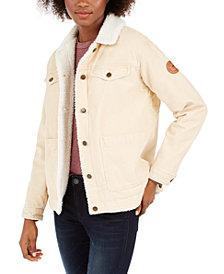 Roxy Juniors' Bright Night Fleece-Lined Corduroy Jacket