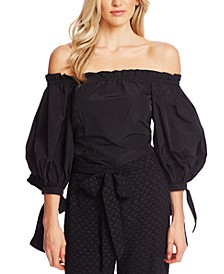 Off-The-Shoulder Full-Sleeve Blouse