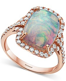 EFFY® Opal (3-7/8 c.t .t.w) & Diamond (1/2 ct. t.w.) Ring in 14k Rose Gold