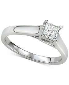 Diamond Princess Solitaire Engagement Ring (5/8 ct. t.w.) in 14k White Gold