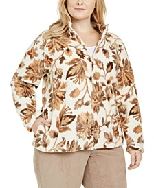 Plus Size First Frost Printed Fleece Jacket