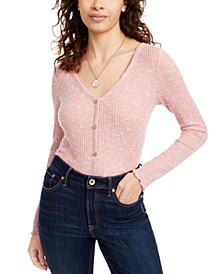 Juniors' Cozy Rib-Knit Top