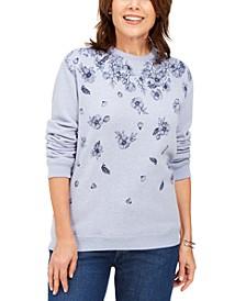 Floral-Print Fleece Sweatshirt, Created for Macy's