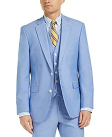 Men's Modern-Fit TH Flex Stretch Chambray Suit Jacket