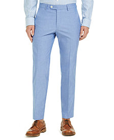Tommy Hilfiger Men's Modern-Fit TH Flex Stretch Chambray Suit Pants