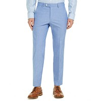 Deals on Tommy Hilfiger Men's Modern-Fit TH Flex Stretch Chambray Suit Pants