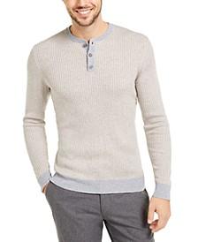 Men's Cashmere Striped Henley Shirt