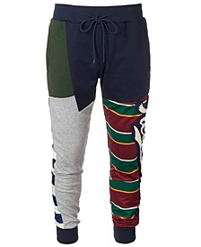 Men's Striped Colorblocked Jogger Pants