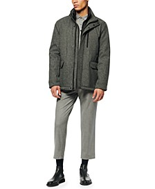 Men's Mullins Melange Tech Shell Mid Length Jacket with Bib