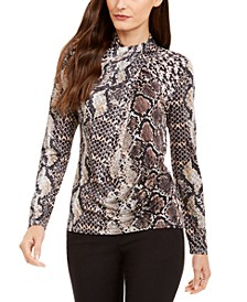 Keilani Snake-Embossed Top
