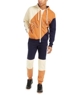 Men's Colorblocked Hooded Track Jacket