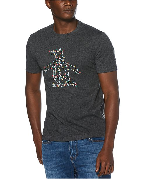 Original Penguin Men's Holiday Light Pete Logo Graphic T-Shirt