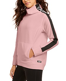 Fleece Mock-Neck Sweatshirt
