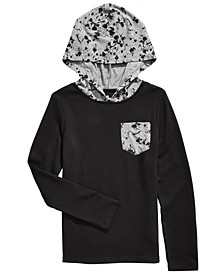 Big Boys Splatter-Print-Hooded Thermal T-Shirt, Created For Macy's