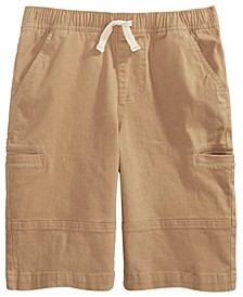 Big Boys Stretch Twill Cargo Shorts, Created For Macy's
